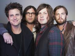 Jared Followill, left, Nathan Followill, Matthew Followill and Caleb Followill of Kings of Leon.