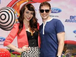 group Karmin arrive at the BET Awards '11 in Los Angeles.