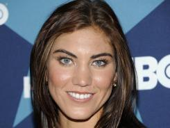 U.S. women's soccer goalie Hope Solo says she's never had a spray-on tan.