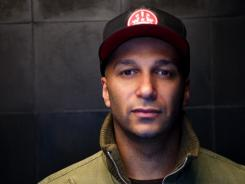 Call him The Nightwatchman: Tom Morello keeps an eye on the world's political situation.