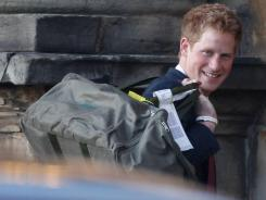 Prince Harry  will arrive in early October at the Naval Air Facility in El Centro, Calif., near the U.S.-Mexico border.