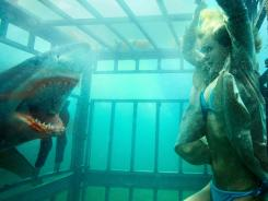 Dodge maul:  Sara Paxton tries to avoid a predator in  Shark Night 3D, which features animatronic sharks that are a far cry from Jaws.