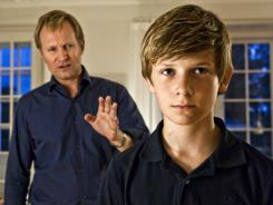 "Claus (Ulrich Thomsen)  is the widower father of Christian (William Jaahnk Nielsen) in the Danish  drama  ""In a Better World."""