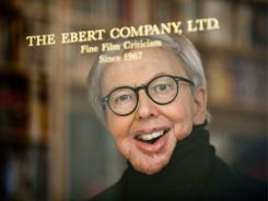 He won't be silenced:  Roger Ebert, behind the door of his home office in Chicago, more often sits in the den while he engages with fans via his blog, Facebook and Twitter.