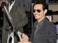 Anthony unveils his clothing line at Kohl's department store Wednesday.