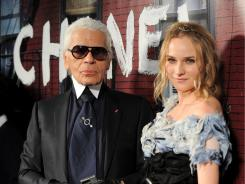 "The man and his muse:  Karl Lagerfeld, who dresses actress Diane Kruger, calls her ""divine."""