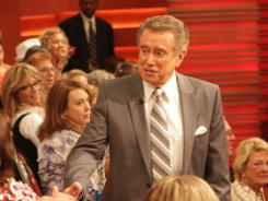 Never far from the fans:  Philbin greets the audience during a taping of  Live!
