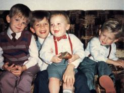 The Kings of Leon when they were kids: Caleb, left, Nathan, Jared and Matthew Followill. Their documentary, 'Talihina Sky: The Story of Kings of Leon' can be seen on Showtime.