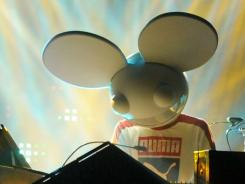 Deadmau5, shown here in Las Vegas, was a big hit at Saturday's Virgin Mobile FreeFest in Columbia, Md.