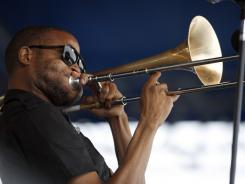 Trombone Shorty, who performed last month at the Newport (R.I.) Jazz Festival, plays more than just trombone on his new album.