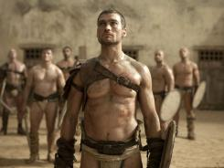 "Andy Whitfield portrays Spartacus in the Starz series ""Spartacus: Blood and Sand."""