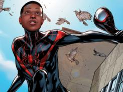 Miles Morales swing into action as the all-new star of Ultimate Comics: Spider-Man beginning today.