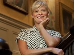 Family legacy:  Martha Plimpton is at home in The Players club in New York, which she frequented as a kid with her grandfather.