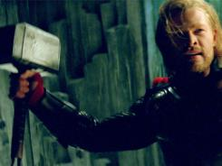 Chris Hemsworth stars as the arrogant, Hammer-toting, banned-to-Earth god of thunder.
