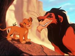 Watch out! The wanna-be lion king, Scar, is out to get the will-be lion king, Simba.