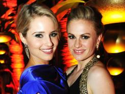 Dianna Agron and Anna Paquin attend HBO's Official Emmy after party.