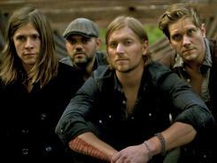 Seth Bolt, left, Joe Stillwell, Bear Rinehart and Bo Rinehart  are currently opening  for Taylor Swift's Speak Now tour.