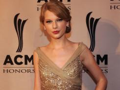 Taylor Swift is up against Keith Urban, Brad Paisley, Jason Aldean and Blake Shelton for CMA entertainer of the year.