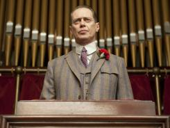 "Enoch ""Nucky"" Thompson (Steve Buscemi) is in the midst of a power struggle over his illegal liquor business in  'Boardwalk Empire .'"