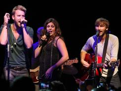 Hillary Scott, Charles Kelley and Dave Haywood of Lady Antebellum will perform on Saturday Night Live this weekend.