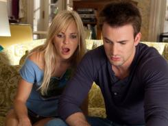 You never know what you may find:  Ally (Anna Faris) and Colin (Chris Evans) discover a shocking secret about one of her exes.