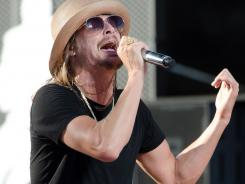 Kid Rock performs during the 2011 NFL Kickoff concert at Lambeau Field on September 8  in Green Bay, Wisc.