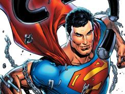 Not even chains can hold down Grant Morrison's Superman in the second issue of Action Comics.