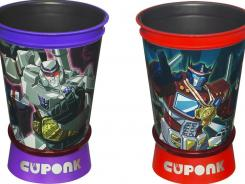 Hasbro's New York Comic-Con Cuponk set includes cups adorned with vintage versions of Megatron and Optimus Prime.
