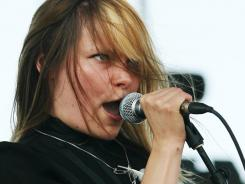 Liela Moss is the Duke Spirit's  feisty lead singer.
