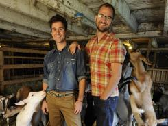 And on this farm, there were some goats: Brent Ridge, left, and Josh Kilmer-Purcell, aka the Beekman Boys, put the animals to work for their brand of products, including goat cheese and goat soap.