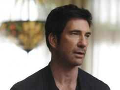 It's coming from inside the house:  Dylan McDermott deals with weird, spooky goings-on  in his new home.