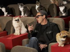 Antonio Banderas headlined the unspooling of  'Puss in Boots' on the lot of Paramount Pictures.  Among attendees: Zach Galifurnakis, the Real Housecats of Beverly Hills and Justin Timberlynx.