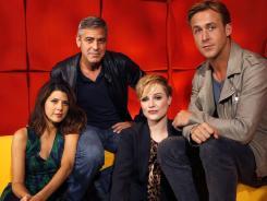 The ensemble:  Marisa Tomei, George Clooney, Evan Rachel Wood and Ryan Gosling.