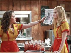 2 Broke Girls :  Kat Dennings, left, and Beth Behrs star in TV's most-watched new series.