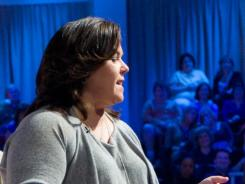 O'Donnell talks to the audience between segments during a taping of  her talk show, which premieres tonight.