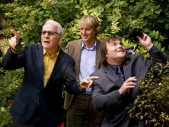 Native Central Park species?  Steve Martin, left, Owen Wilson and Jack Black have their eyes on the skies as competitve birders in the comedy 'The Big Year,' out Friday.