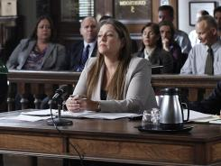 Camryn Manheim stars as Assistant District Attorney Kim Mendelsohn in a 'Harry's Law' story line centering on cyber-bullying.