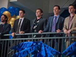 Five guys: Thomas Ian Michaels, left, Jason Biggs, Seann William Scott and Chris Klein and Eddie Kaye Thomas reunite.
