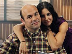 Don't blink:  Ian Gomez will be on  Grey's Anatomy; Courteney Cox will visit  Private Practice .
