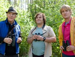 Steve Martin, left, Jack Black and Owen Wilson get caught up in the low-stakes world of competitive bird-watching.