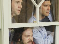 Male call:  Christopher Moynihan, from left, Dan Fogler and Mather Zickel star in  Man Up .