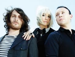The Joy Formidable are Matt Thomas, left (drums), Ritzy Bryan (vocals, guitar) and Rhydian Dafydd (bass).