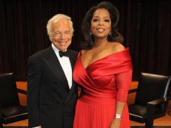 Designer Ralph Lauren said there was no one  but Oprah Winfrey to lead the chat, calling her &quot;the best interviewer in the world.&quot;