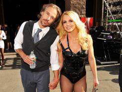 Jason Trawick and Britney Spears at the 2011 Billboard Music Awards  in Las Vegas.