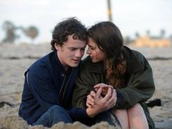 A young couple in love (played by Anton Yelchin and Felicity Jones) find themselves torn apart by international bureaucracy.