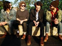 Los Angeles-based band, Dawes, from left: Wylie Gelber, Griffin Goldsmith, Taylor Goldsmith and Tay Strathairn.