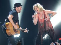 Bush and Jennifer Nettles of Sugarland perform at the Mandalay Bay Events Center on Aug. 27 in Las Vegas.