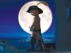 Puss in Boots, with Antonio Banderas voicing the feline, was tops at the box office this weekend.