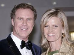 Will Ferrell and his wife, Viveca Paulin, arrive at the Kennedy Center last week in Washington, D.C., where Ferrell accepted the Mark Twain Prize for American Humor.