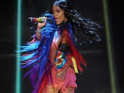 Contestant Simone Battle performs in front of the judges on last week's episode of 'The X Factor.'